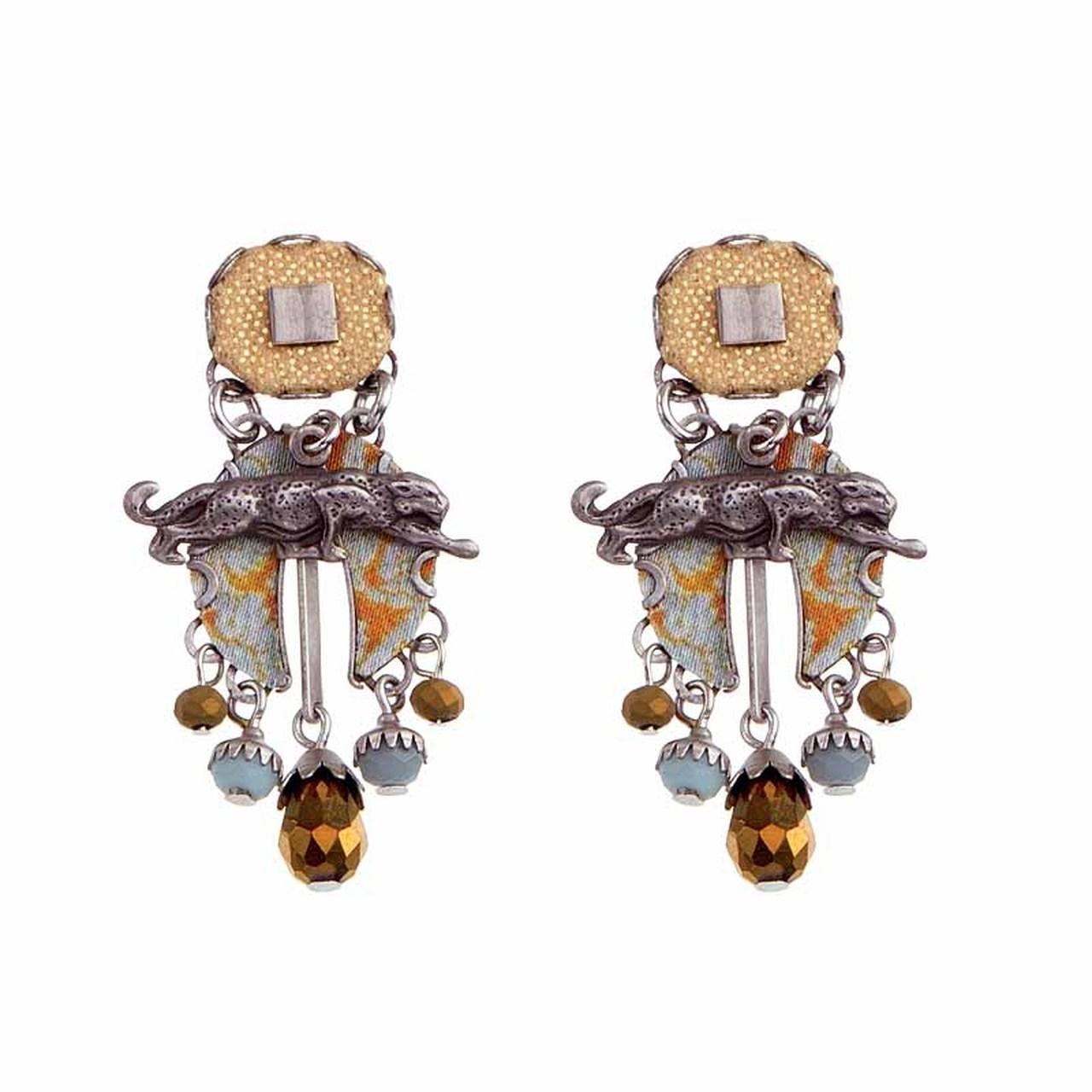 Sgt Pepper - Desert Jaguar Earrings
