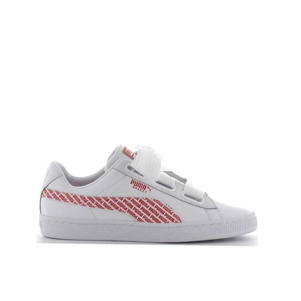 Puma Basket Heart AOP White/Red da Donna