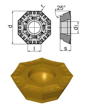 Inserti OFEX 05T305 SN-BP BCP25M