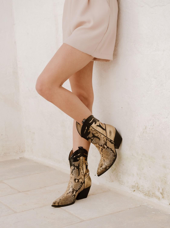 Texano in pelle rettile vintage Elena Iachi