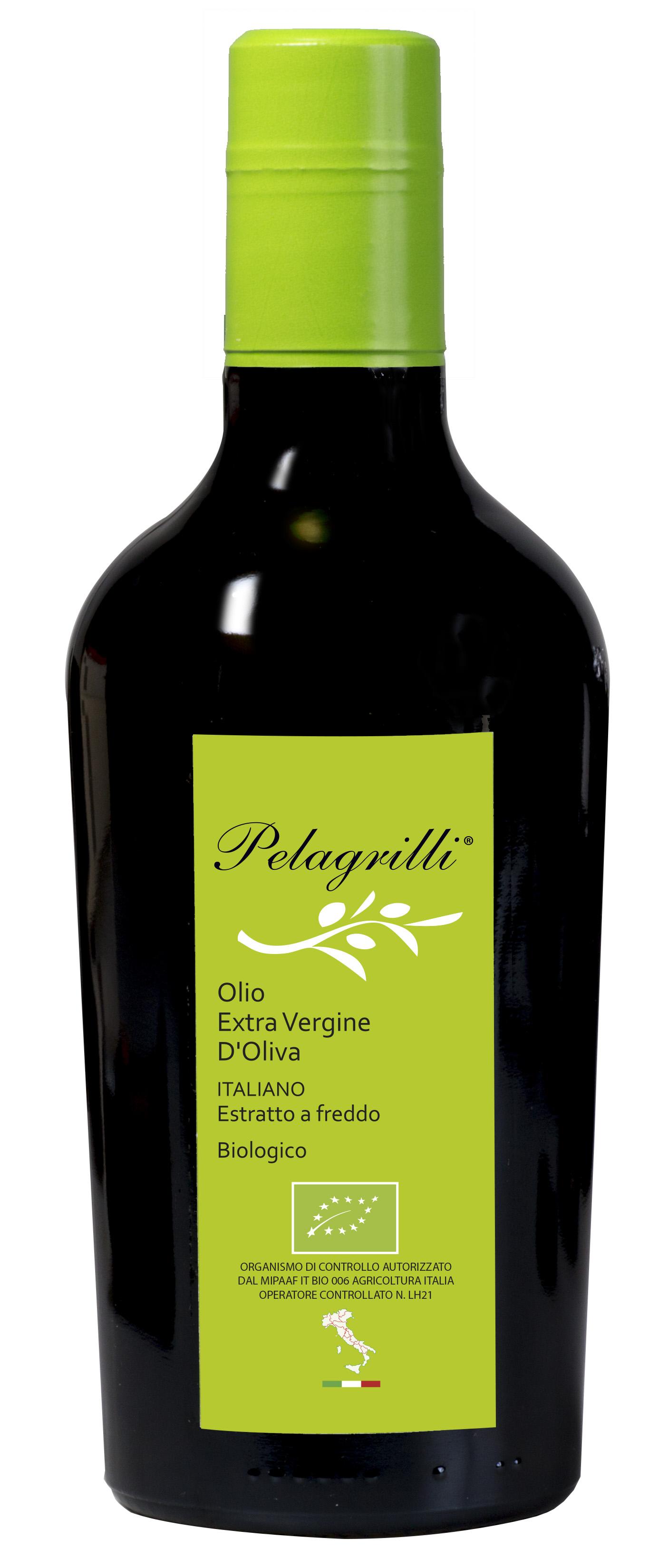 BIOLOGICO 100% ITALIANO LT 0,5  Olio extravergine di oliva- estratto a freddo- Raccolto 2019-2020-FILTRATO