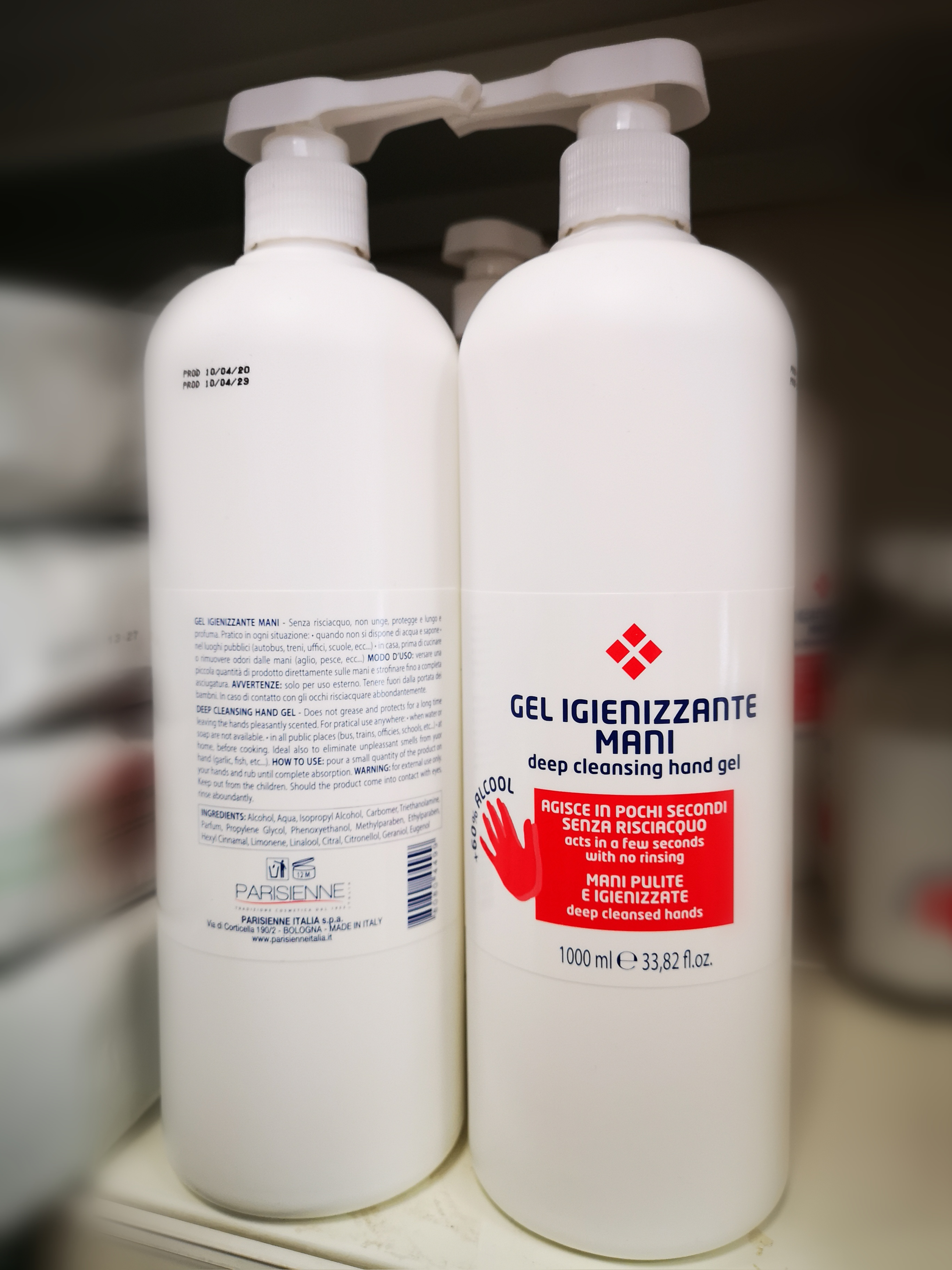 PARISIENNE - gel igienizzante mani 1000ml