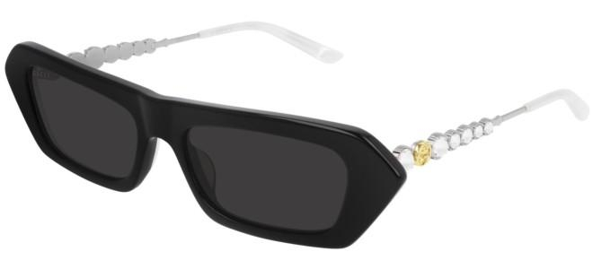 Gucci - Occhiale da Sole Donna, Ivory Black/Grey Shaded  GG0642S  001  C56