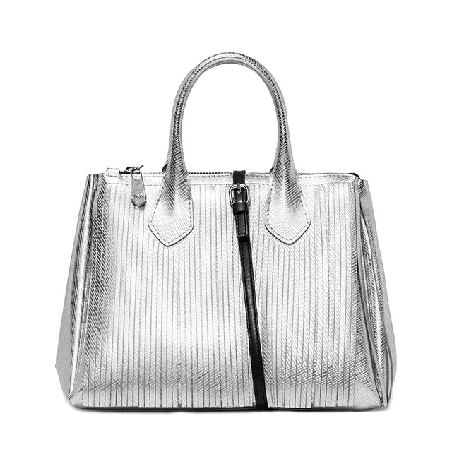 Borsa a Mano color argento Fourty Media con frange - GUM Design