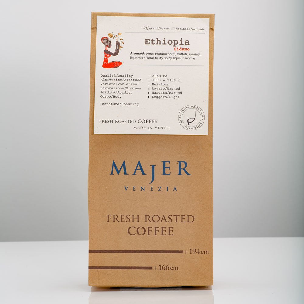 Caffè Majer in grani Etiopia Sidamo  -  250gr