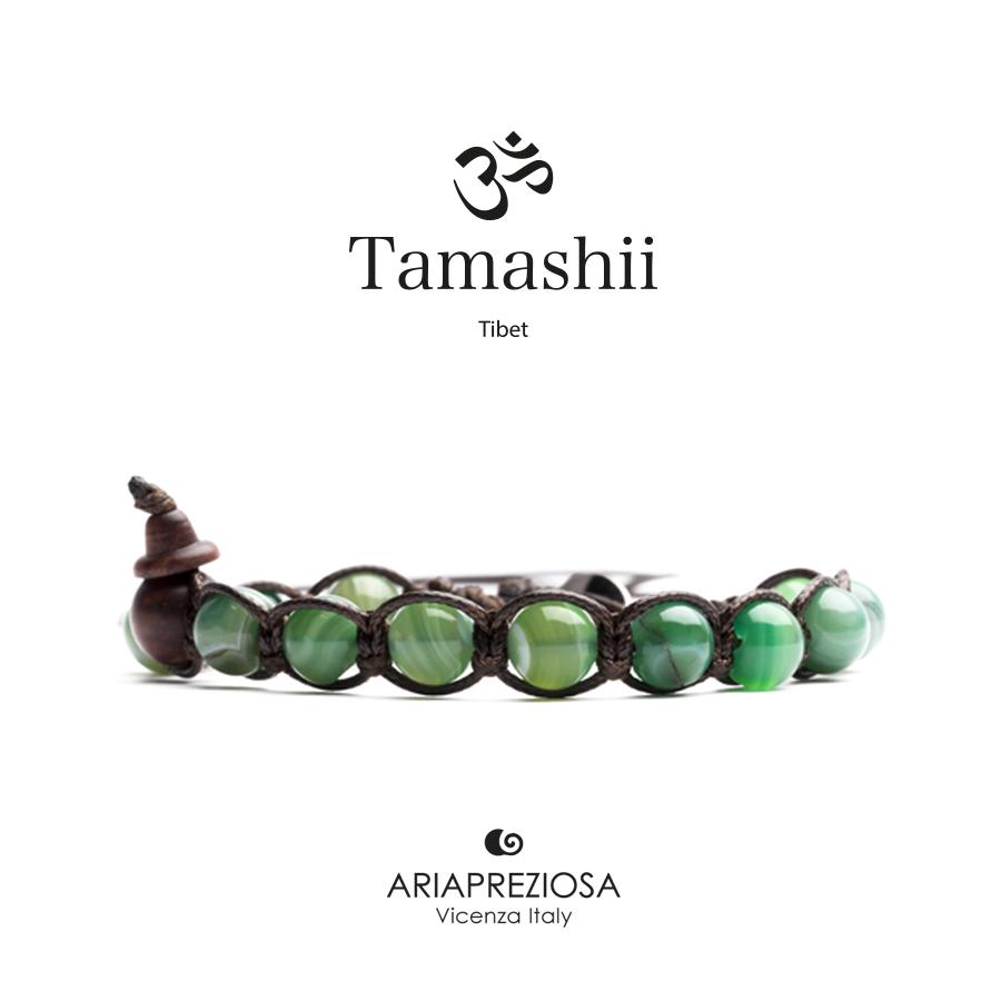 Bracciale Tamashii Agata Verde Chiaro Striata