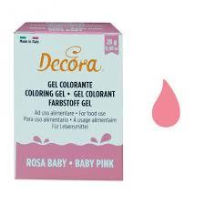 DECORA COLORANTE GEL ROSA BABY 28GR