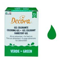 DECORA COLORANTE GEL VERDE 28GR