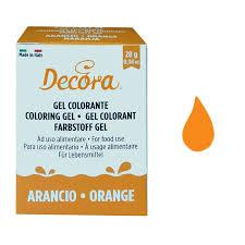 DECORA COLORANTE GEL ARANCIO 28GR