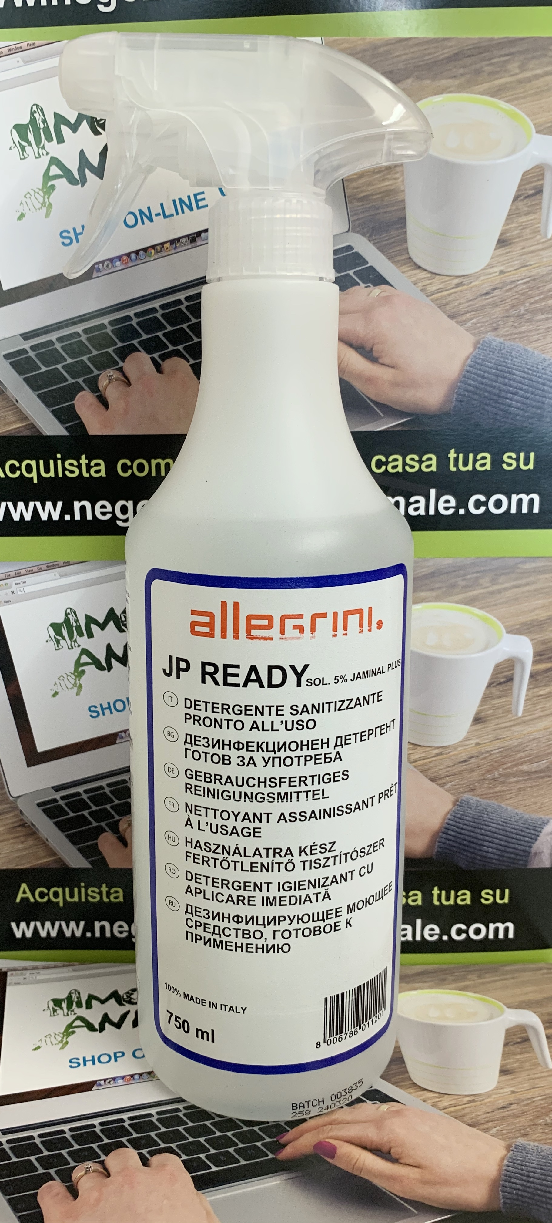 ALLEGRINI JP READY detergente sanitizzante 750ml