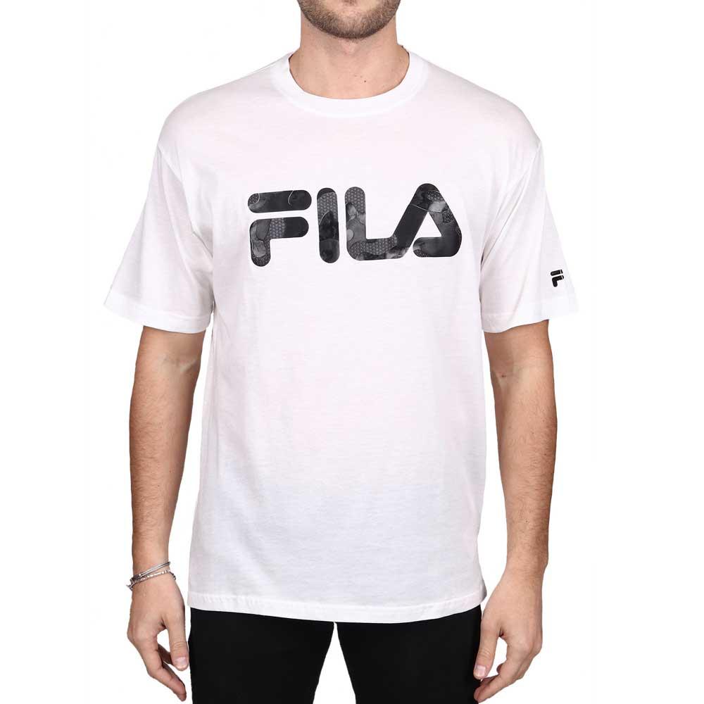Fila T Shirt con Stampa White/Black da Uomo