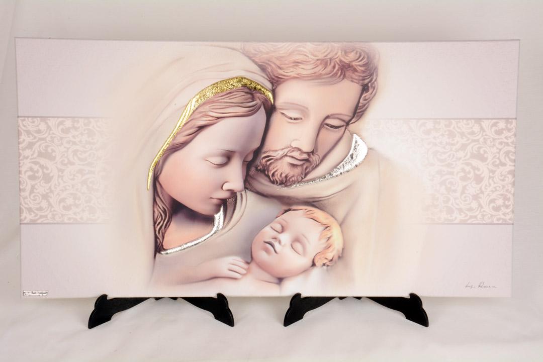 Quadro Sacra Famiglia 64x34 cm 050616