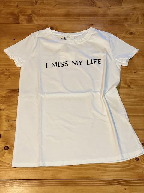 T-shirt Vicolo I Miss My Life