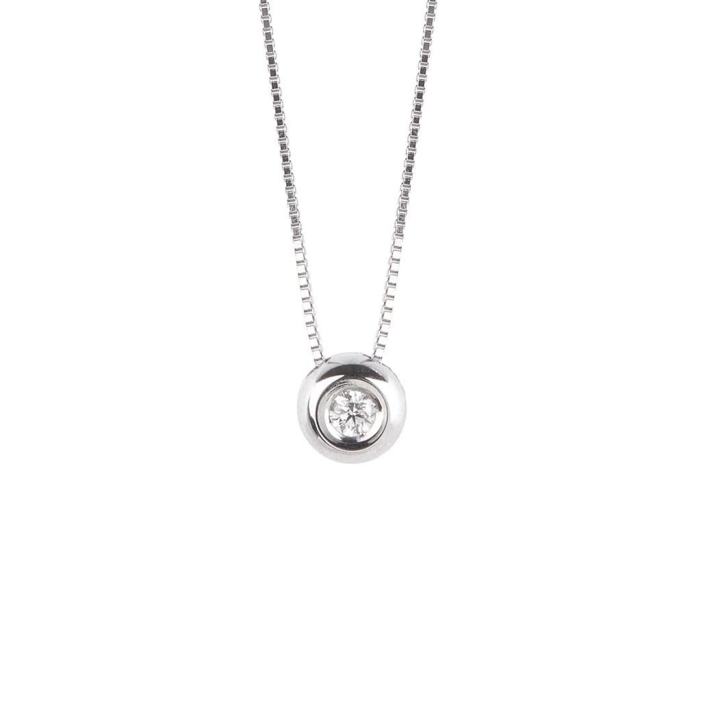 Collana Lux Gioielli, in Oro18kt con Diamante Ct 0.02 VS G