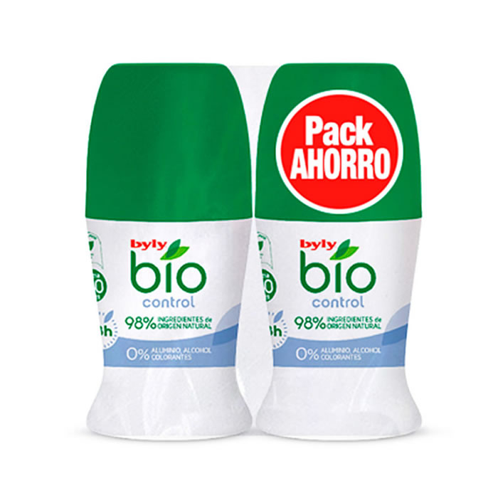 Byly Bio Natural 0% Control Deodorante Roll On 2x50ml