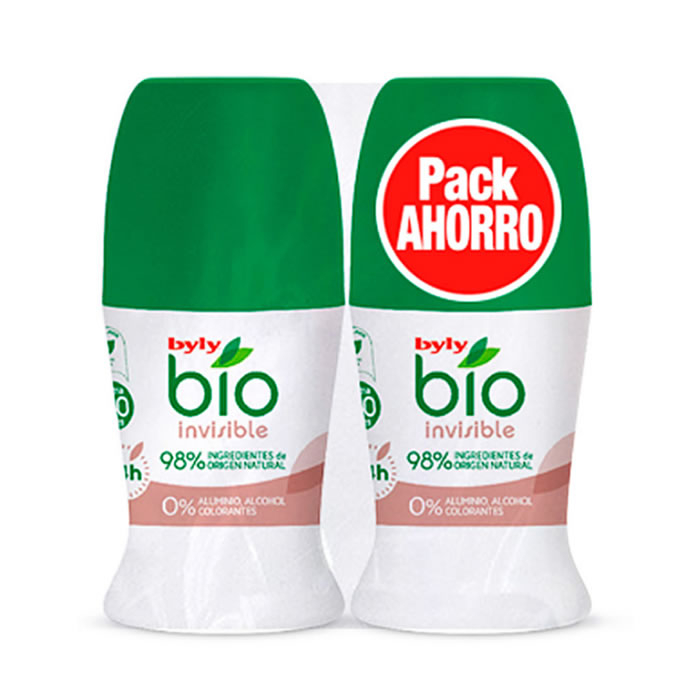Byly Bio Natural 0% Invisible Deodorante Roll On 2x50ml
