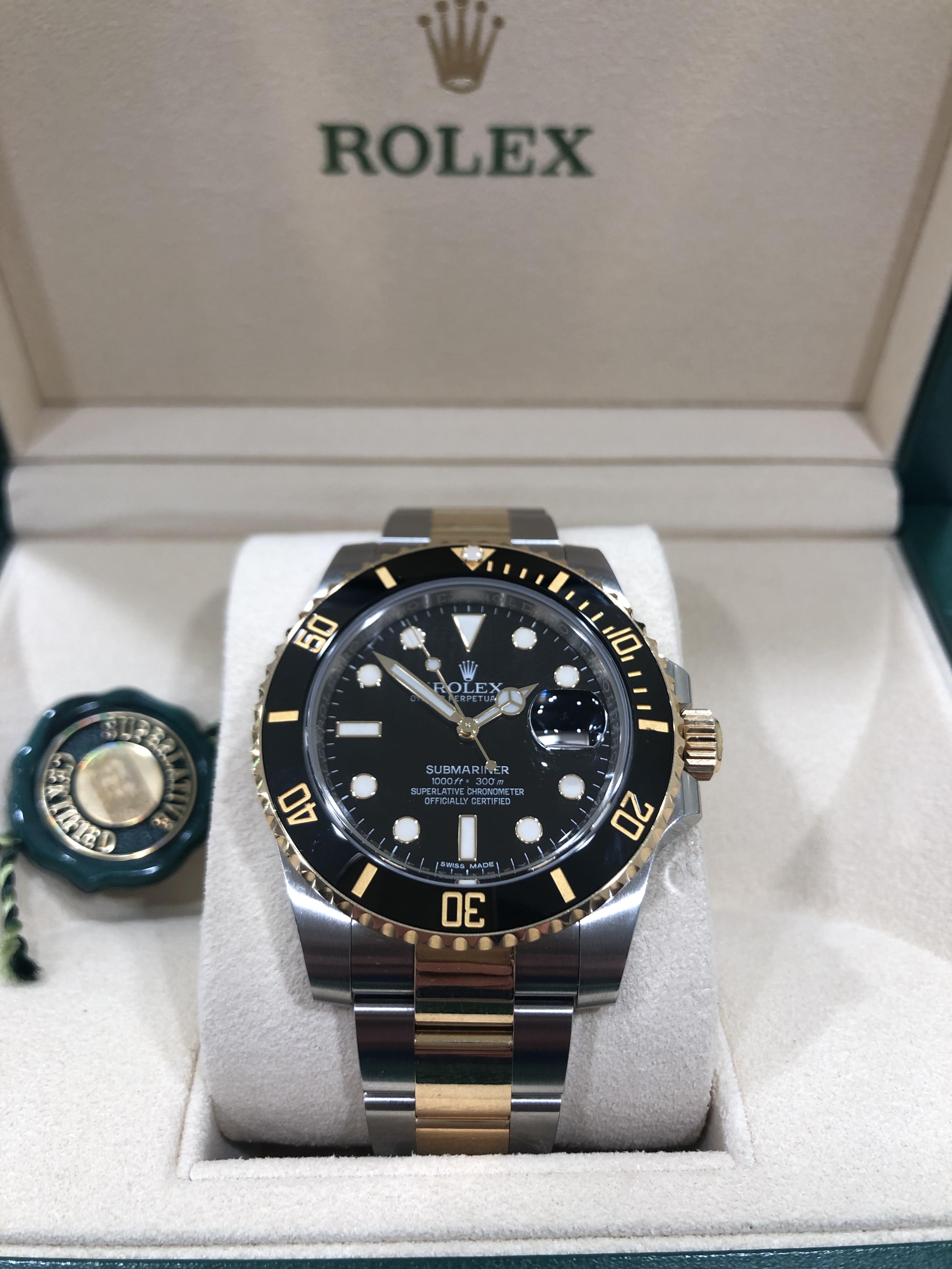 Rolex Submariner Date  Acciaio e Oro 40 mm 116613LN