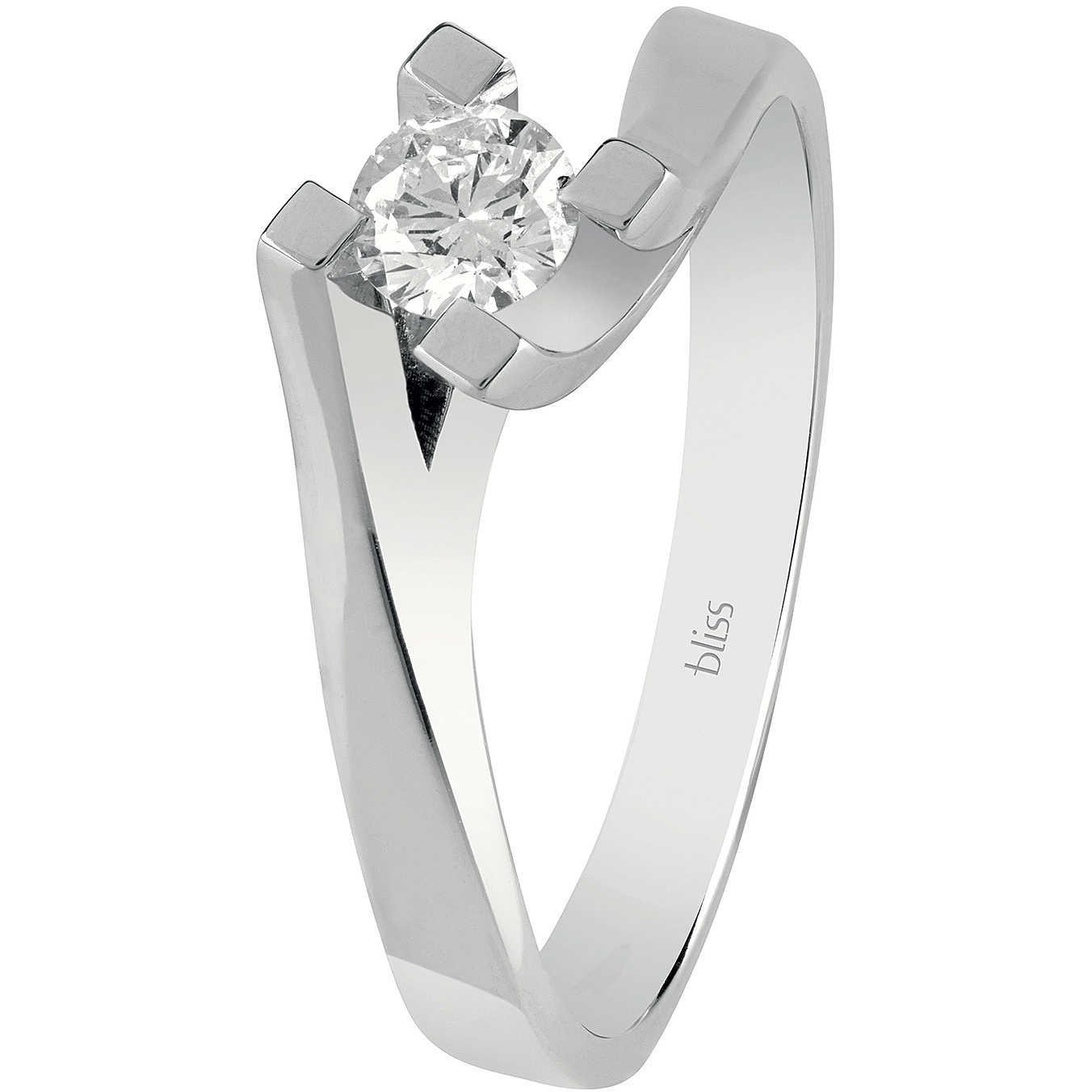 Bliss ANELLO SOLITARIO in oro bianco e diamanti