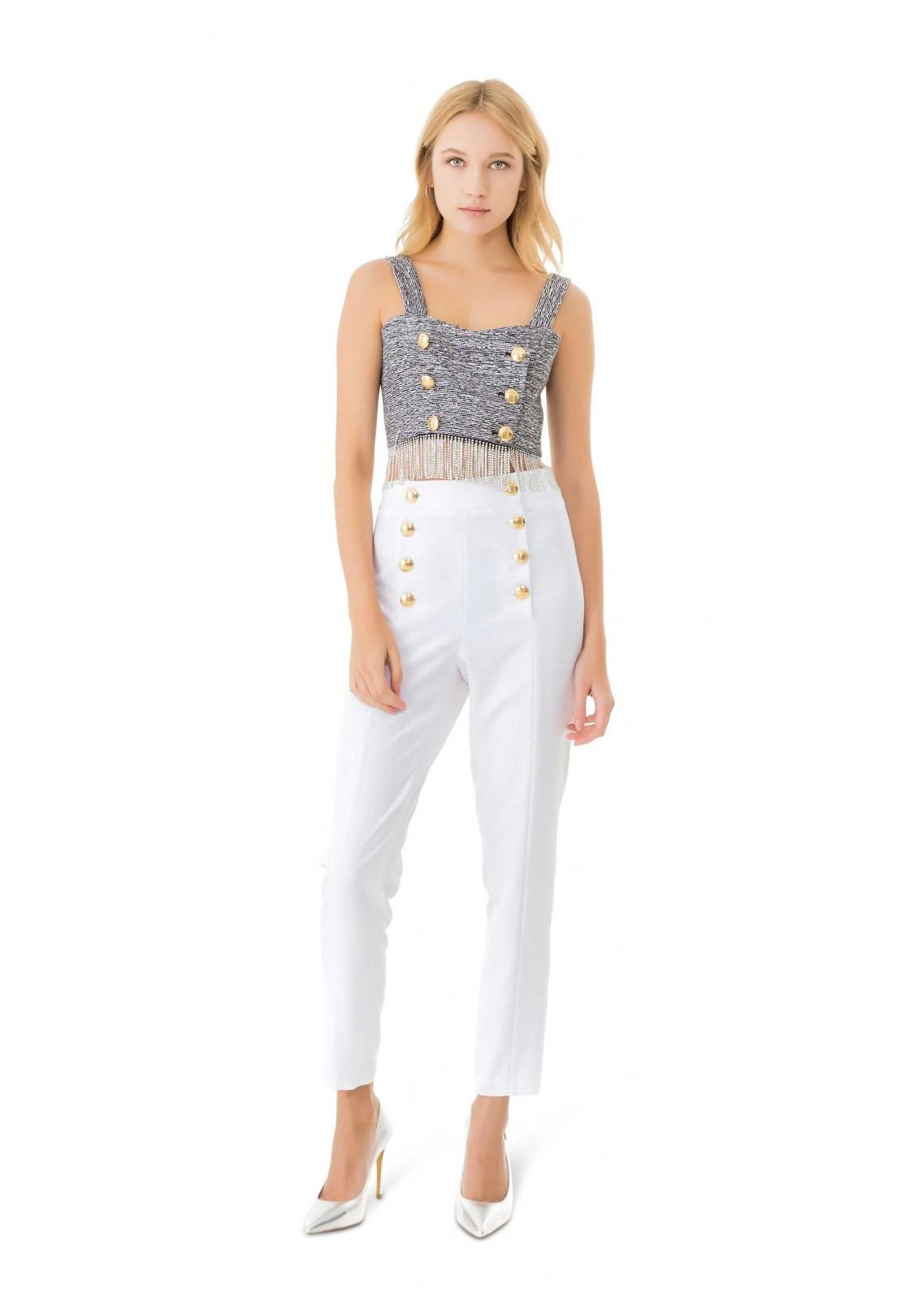 Pantalone Bianco Gaelle Paris