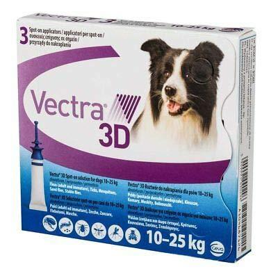 Ceva Vectra 3d spot-on per cani tra i 10 e 25 kg 3 pipette