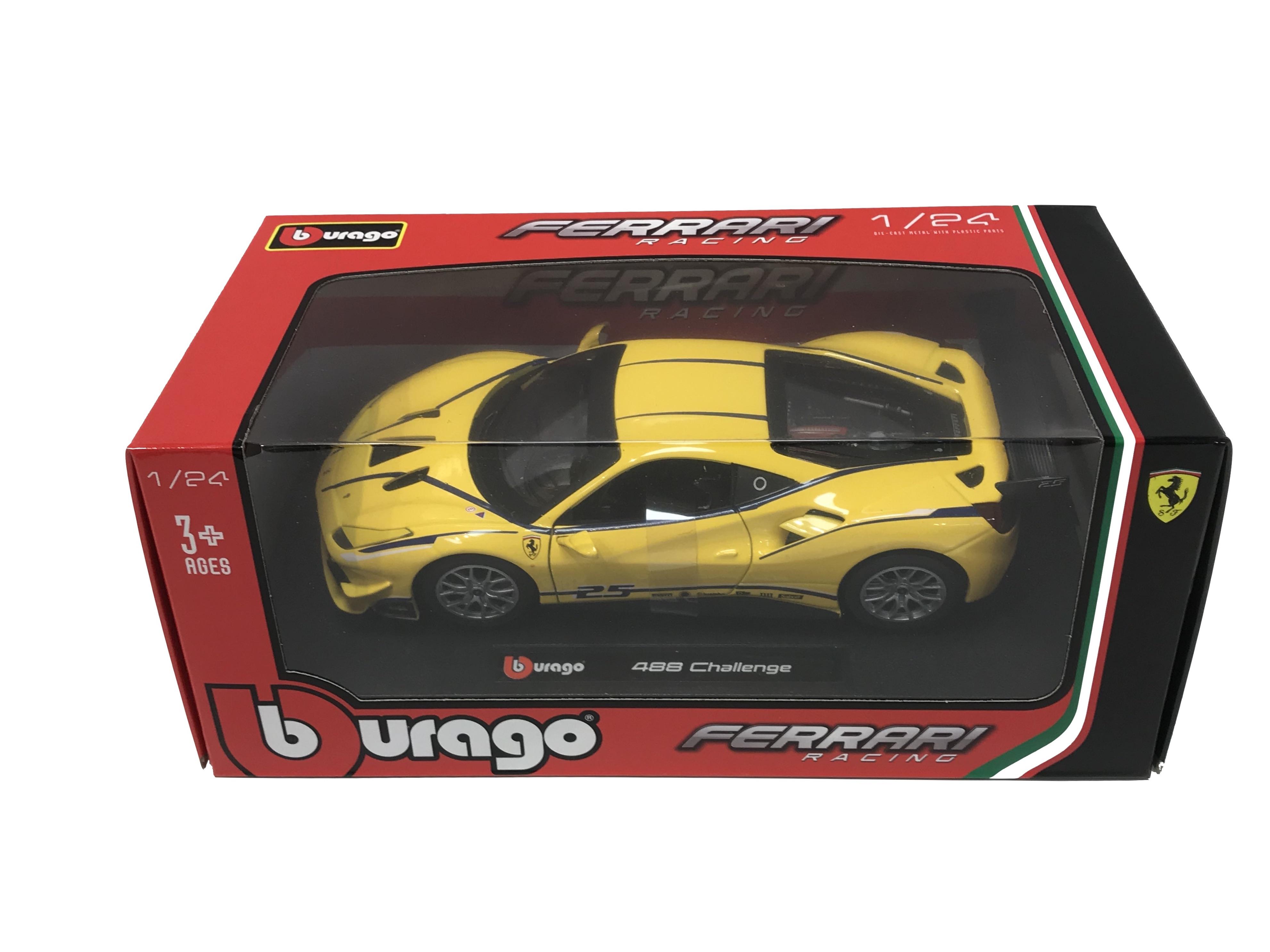 Ferrari 488 Challenge Giallo 1/24