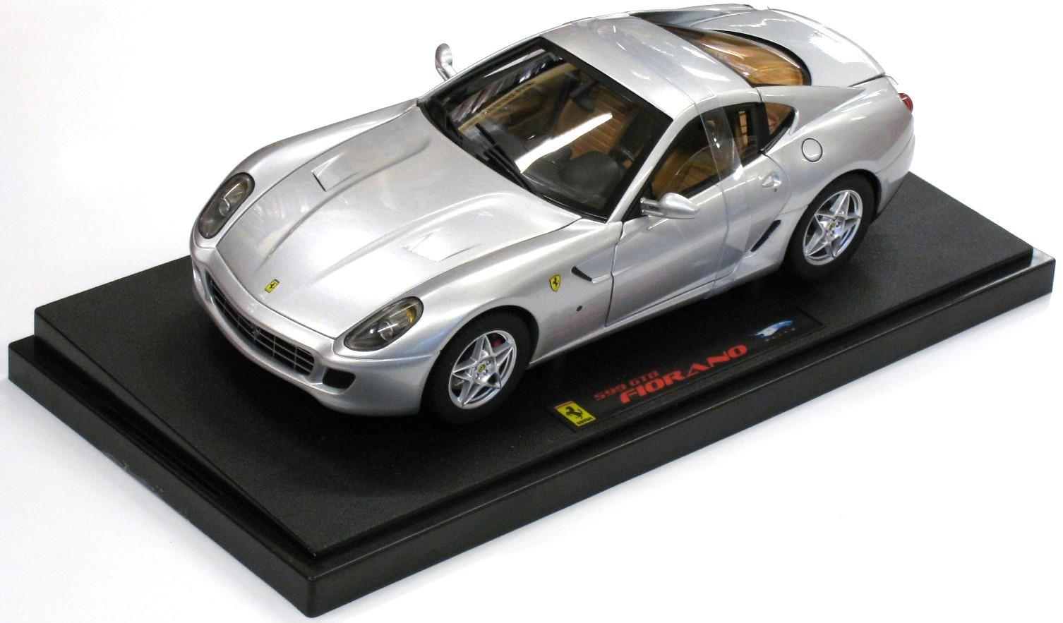 Ferrari 599 GTB Fiorano Silver Elite 1/18