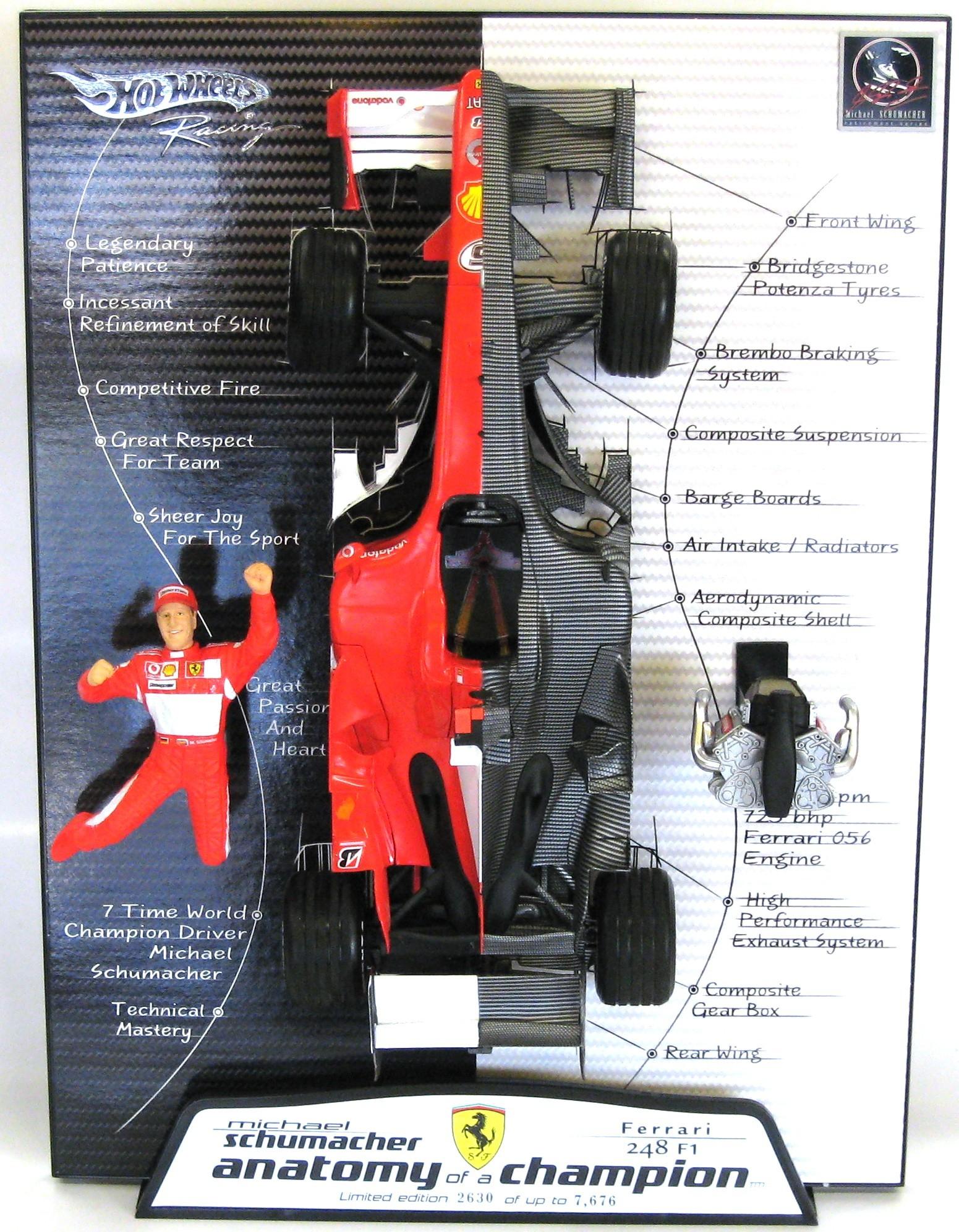 Ferrari F1 248 2006 Michael Schumacher Anatomy 1/18