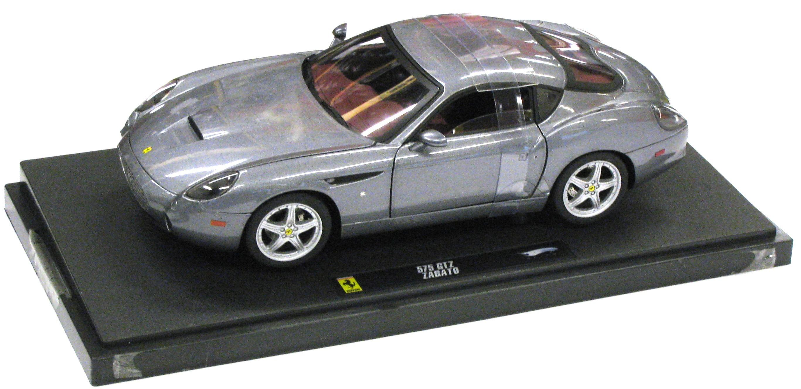 Ferrari 575 GTZ Zagato Grey 1/18