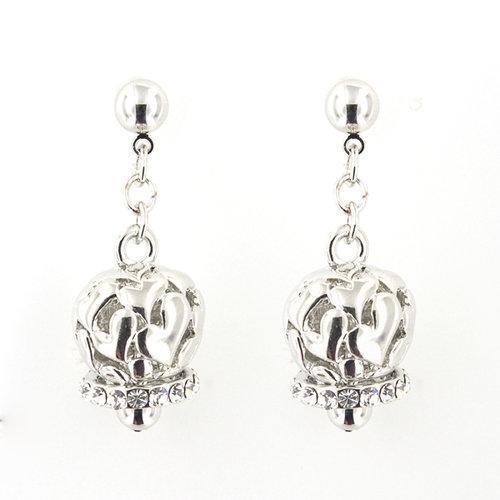 By Simon - Orecchini campanelle pendenti con cristalli