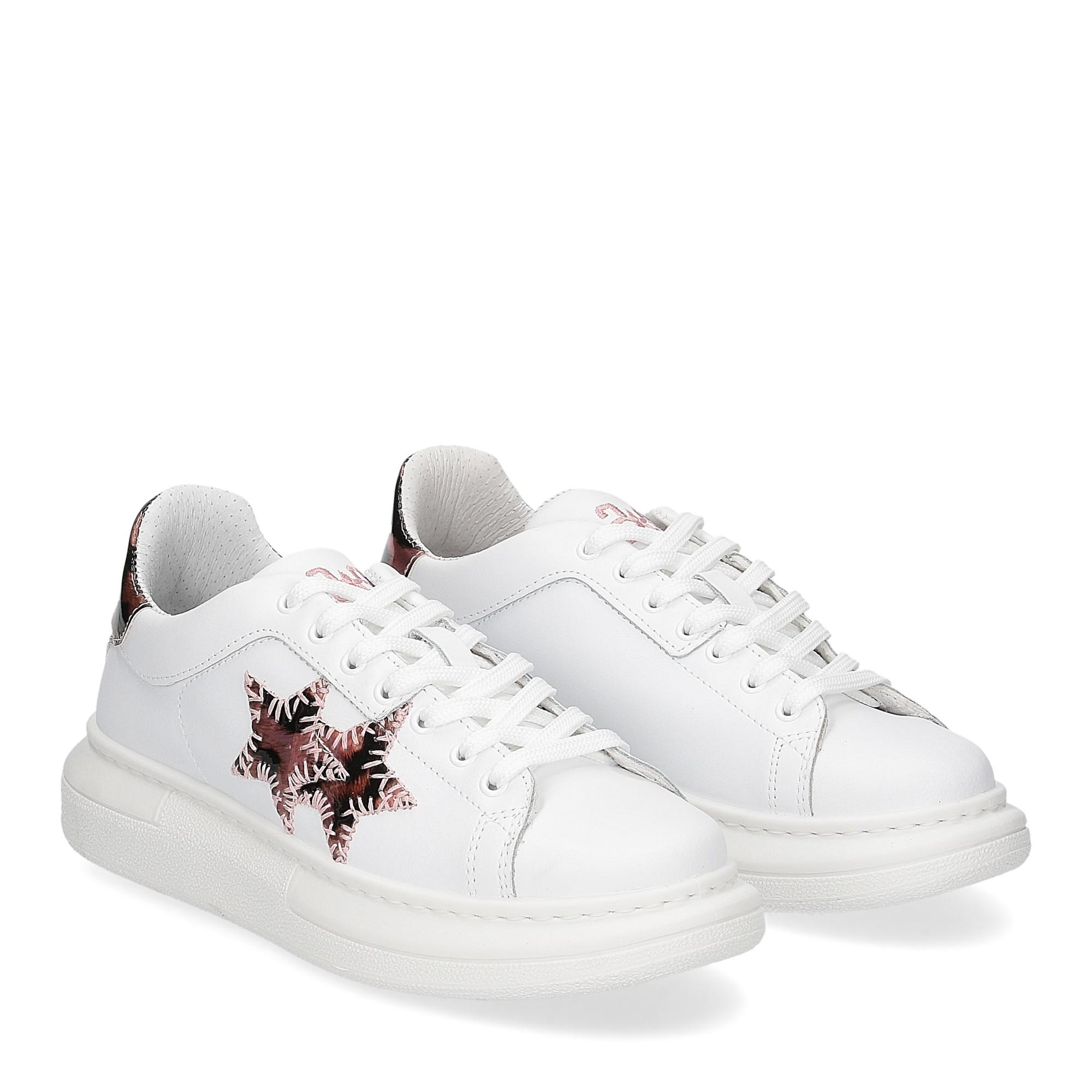 2Star Elettra sneaker bianco maculato rosa