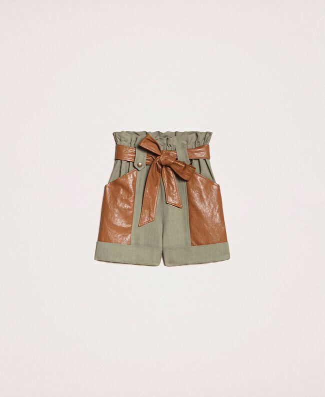 Shorts canvas verdi - TWIN SET