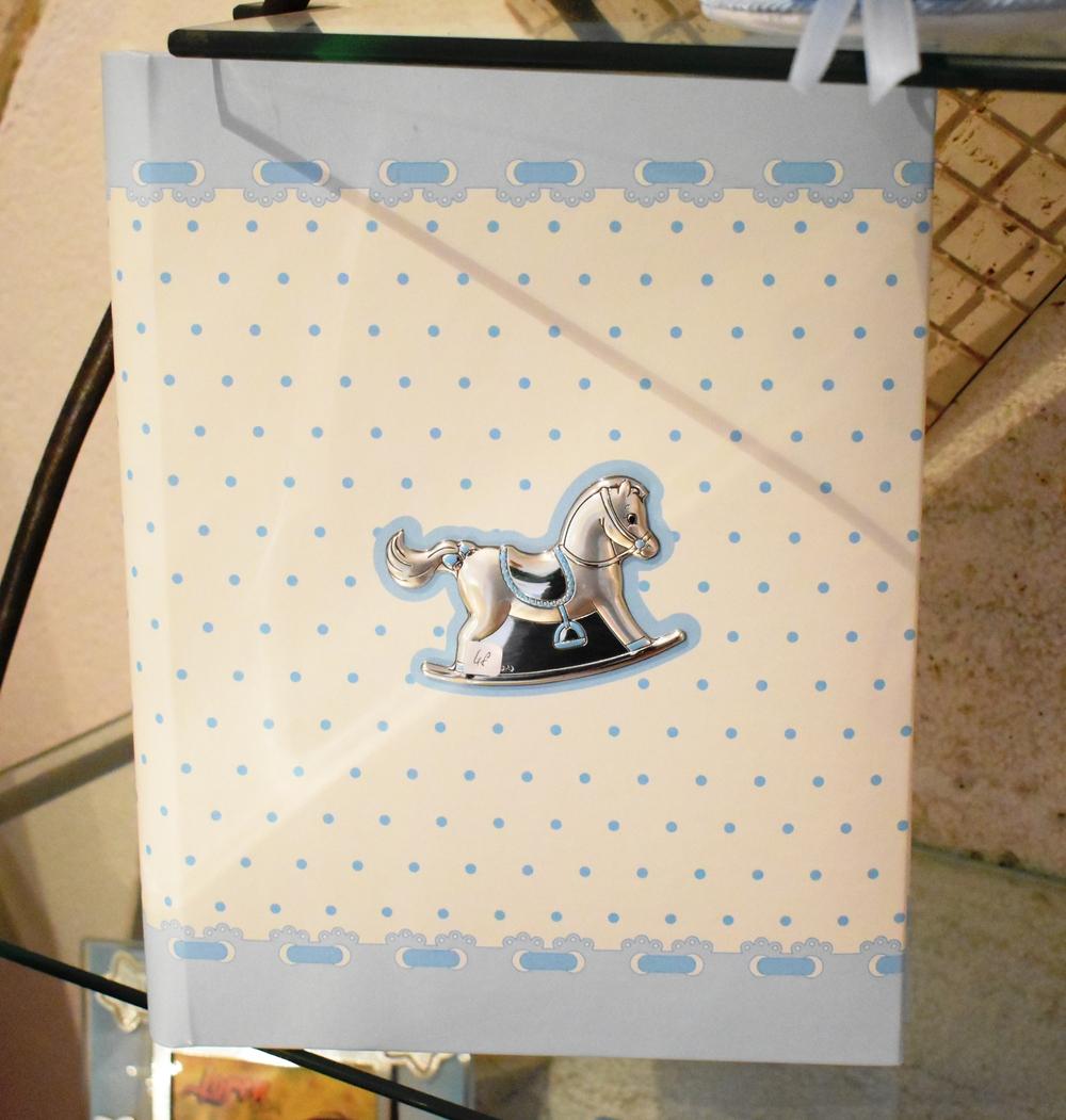 Bimbo Album Portafoto Cavalluccio 30x25 Azzurro