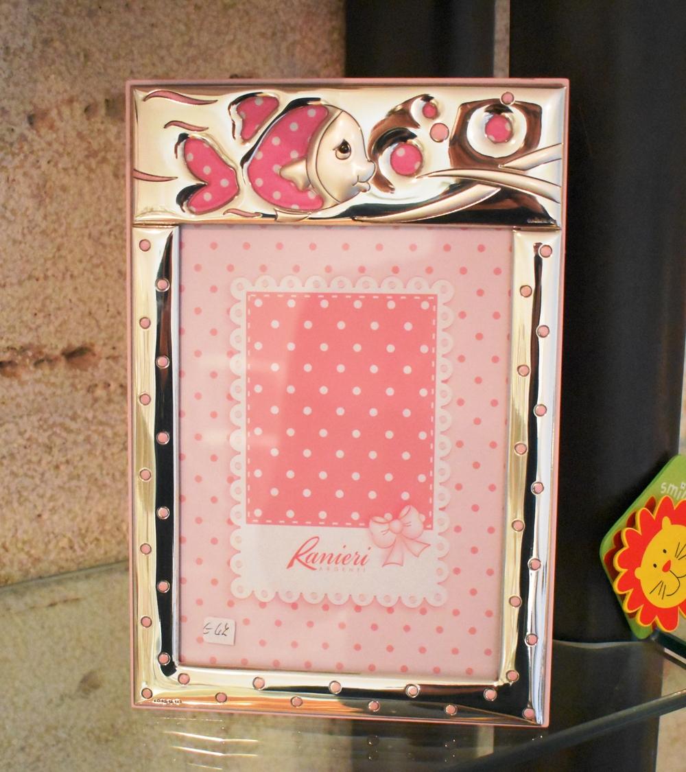 Bimbo Cornice Pesciolino 13x18 Rosa