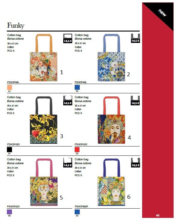 Baci Milano Bag Cotone cm. 38x41 (n.6)