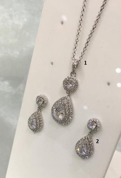 Osa gioielli: orecchini in argento 925 con pietre Swarovski (n.2)