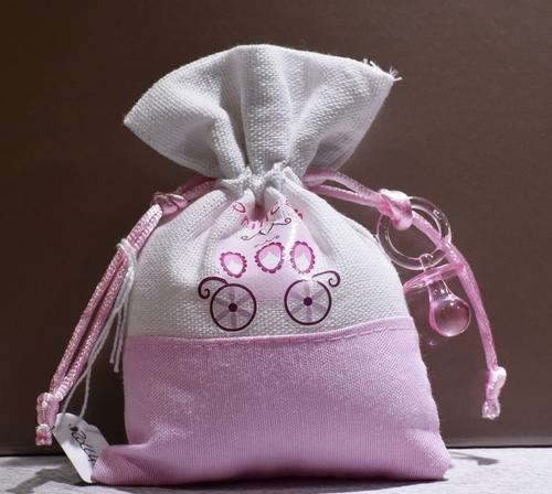 Sacchetto Principe rosa  (confetti vari gusti e tipologie)