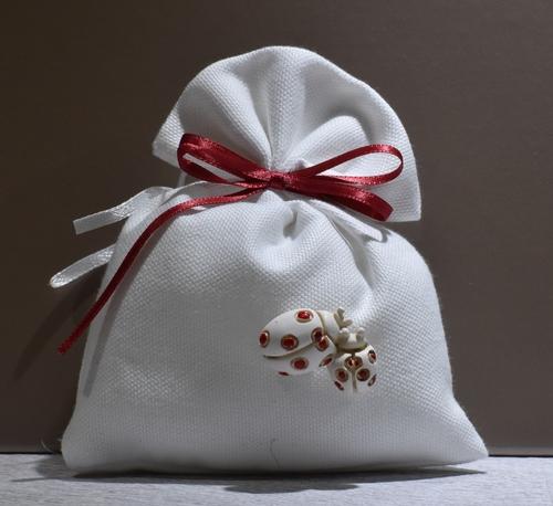 Sacchetto con Coccinelle (confetti vari gusti e tipologie)