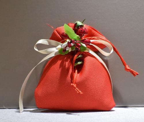 Sacchetto Rigatino Rosso (confetti vari gusti e tipologie)