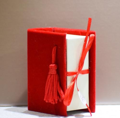 Scatolina libro Rosso (confetti vari gusti e tipologie)
