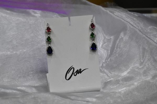 Osa gioielli orecchini in argento 925 e pietre Swarovski
