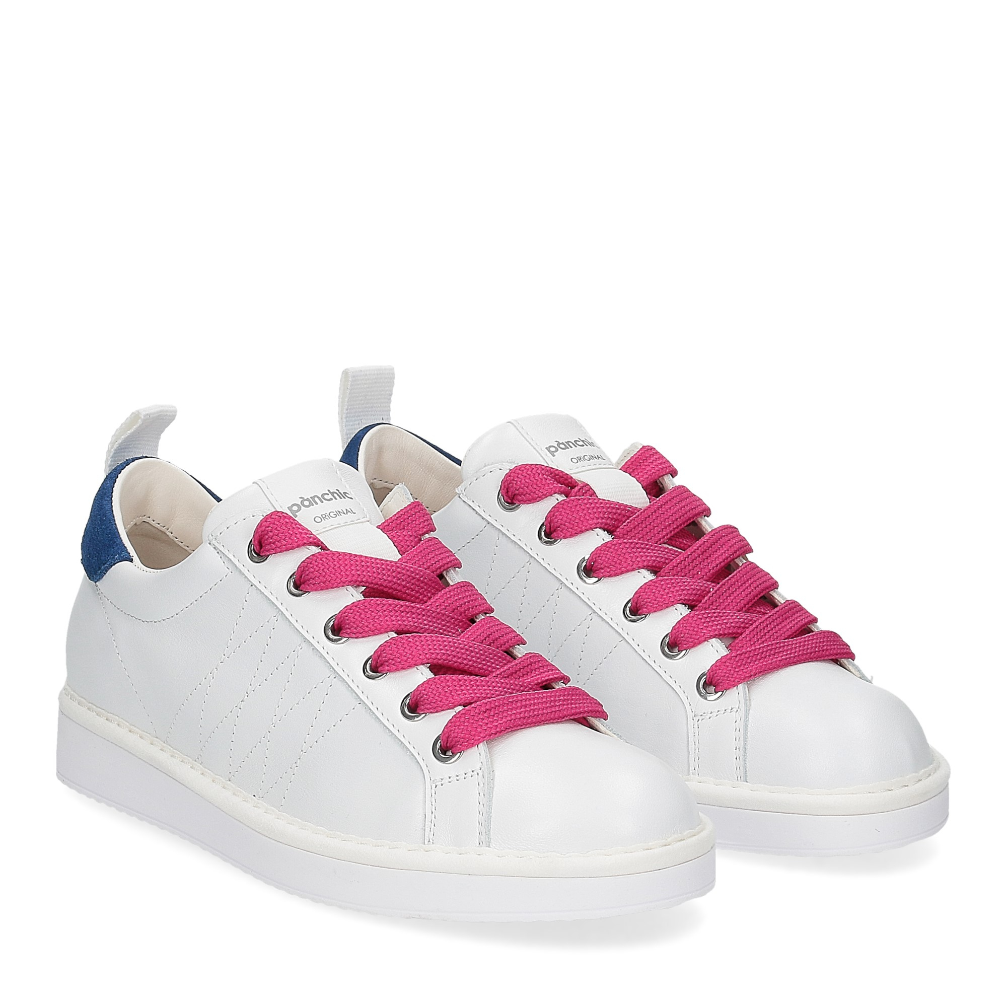 Panchic P01W leather white misterious fuxia