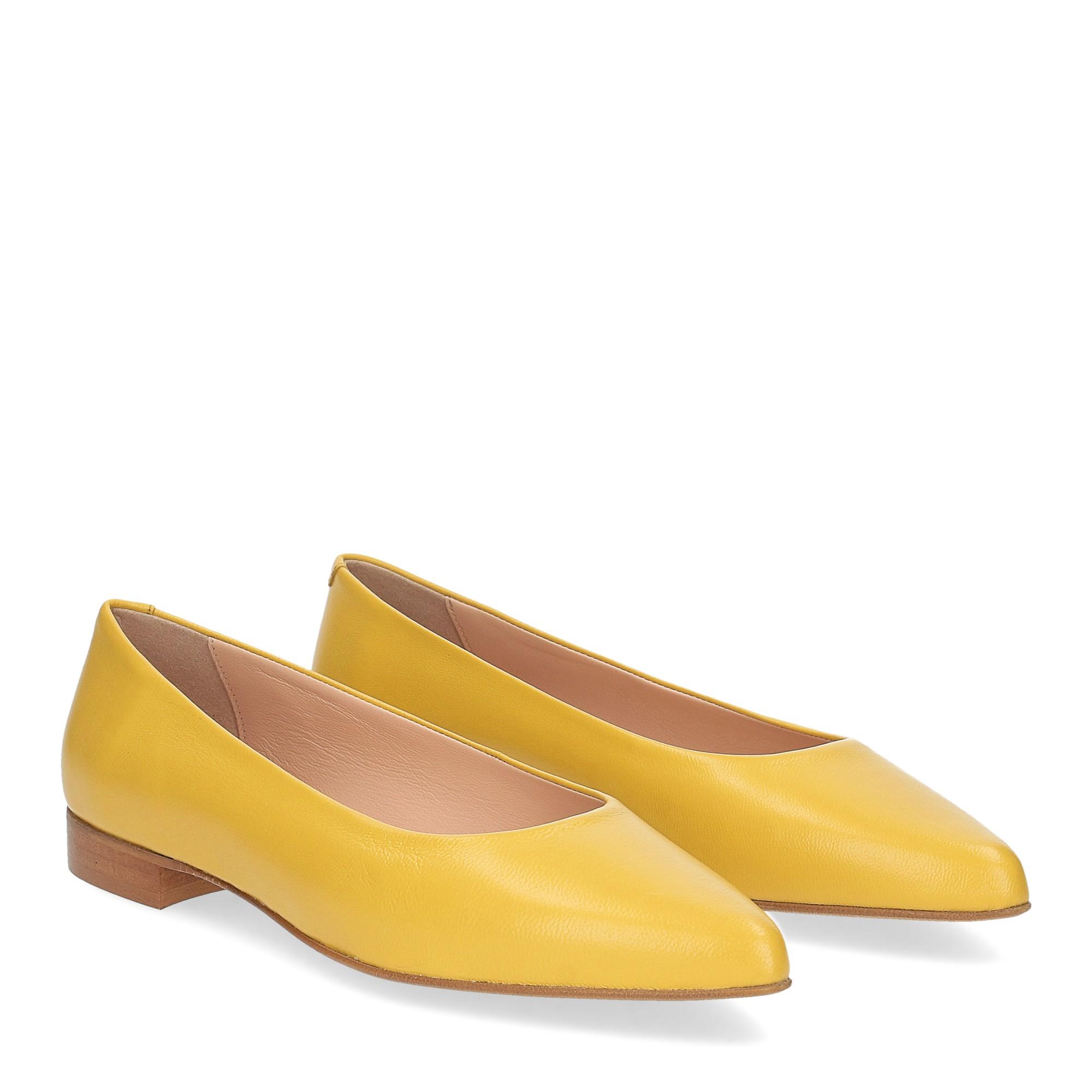 Il Laccio ballerina selena pelle gialla