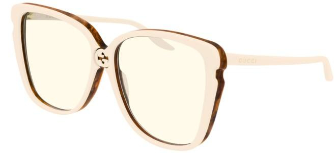 Gucci - Occhiale da Sole Donna, Ivory/Yellow Shaded  GG0709S  003  C63