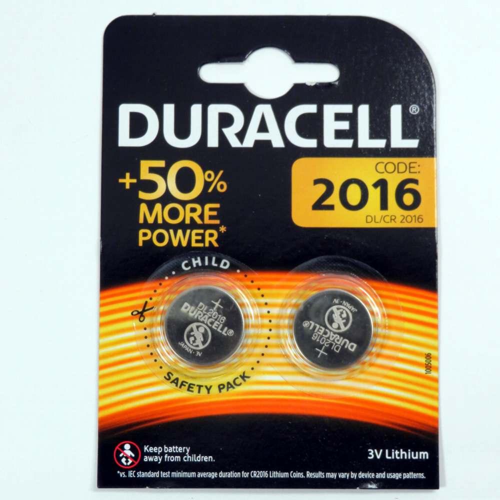1 batteria a pastiglia 2016 Duracell