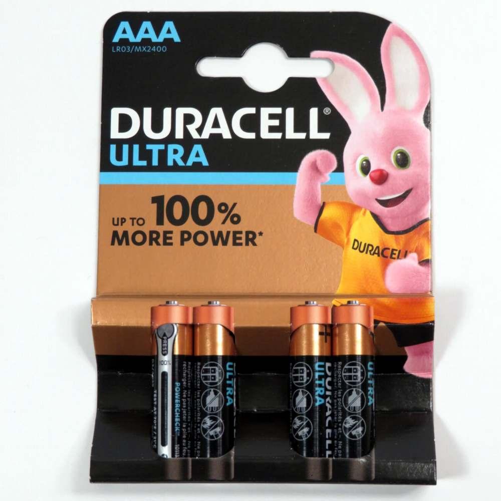 Pila ministilo 1,5v AAA Duracell ultra