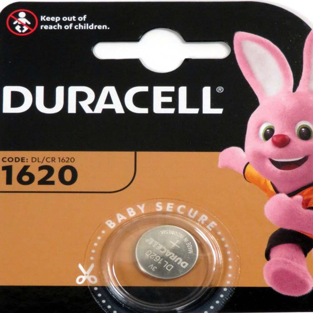 Pila a pastiglia 3v 1620 Duracell