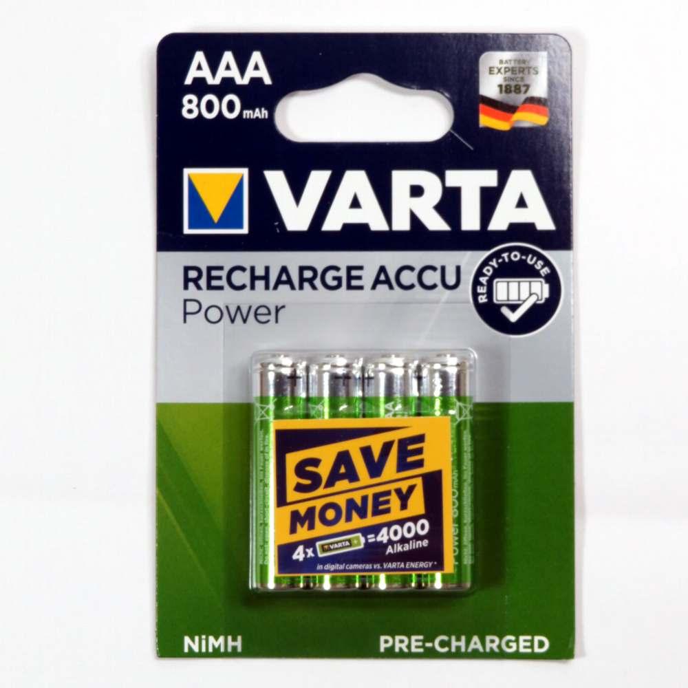 Pila ministilo 1,2v AAA ricaricabile Varta