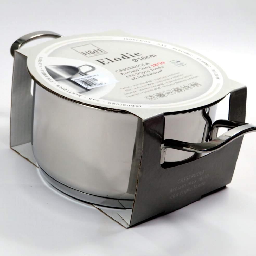 Casseruola in acciaio modello Elodie induzione 16cm