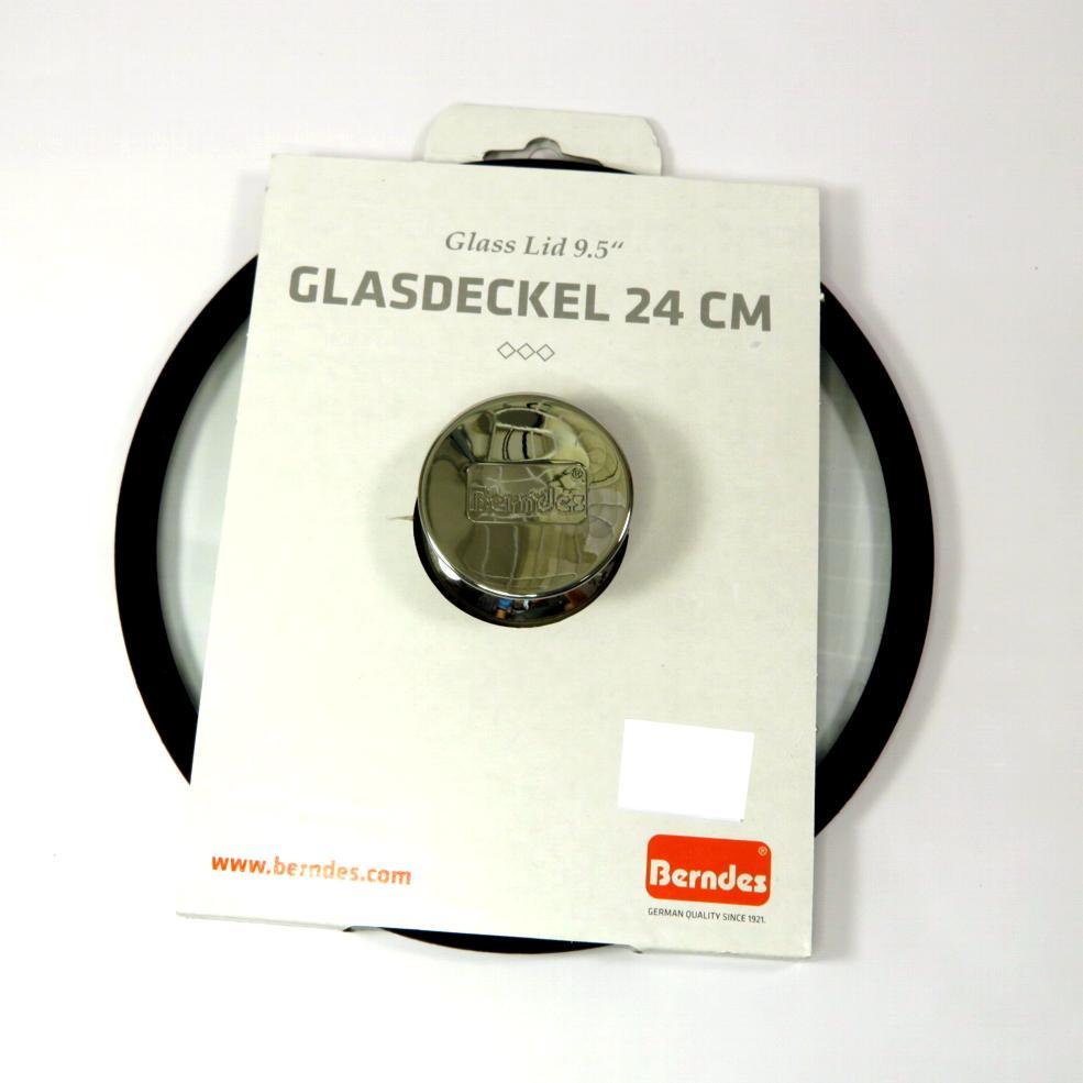 Coperchio in vetro bordo silicone cm24