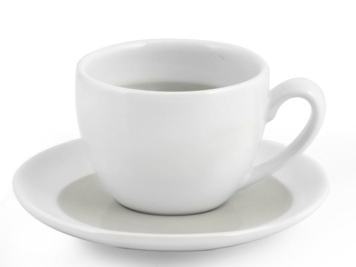 Tazzina té con piattino bianco e grigio soleil